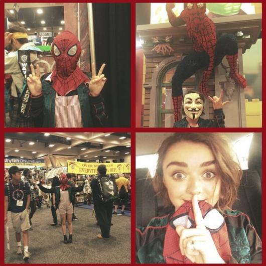 maisie-williams-comic-con-2014-show-floor-spiderman-mask-530x530