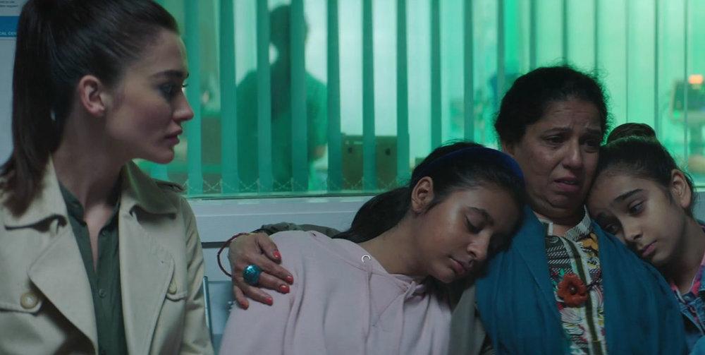 Amy Jackson as Nimisha and Shobu Kapoor as Anandi in 'Boogie Man'.