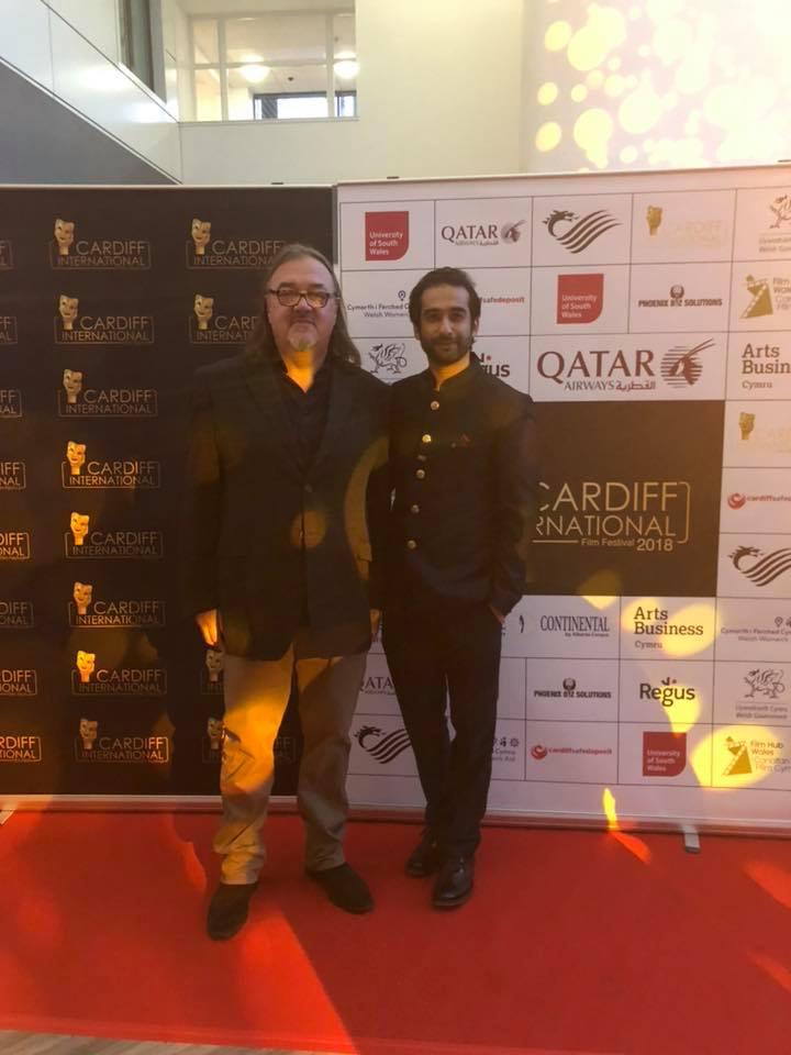 Andy Morahan at CIFF with founder Rahil Abbas.