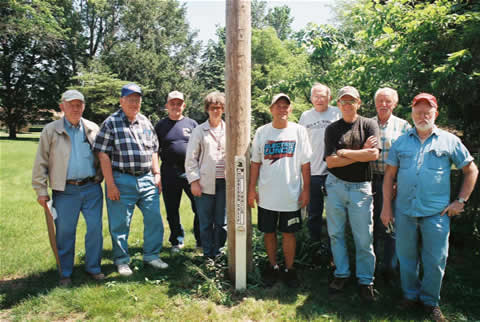 Group Photo with Trail Marker - May 2005