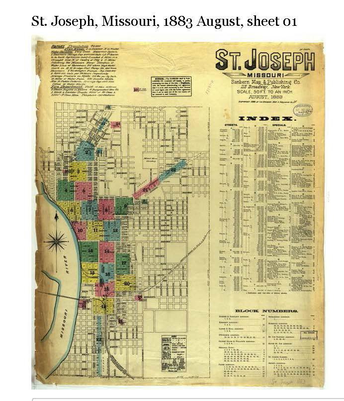 St. Joseph, Missouri, 1883 August, sheet 01 _ MU Digital Library, University of Missouri_Page_1.jpg