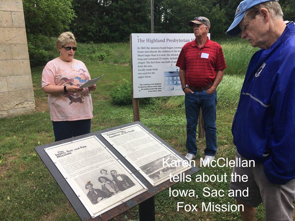 Karen McClellan tells about the Iowa, Sac and Fox Mission.jpg