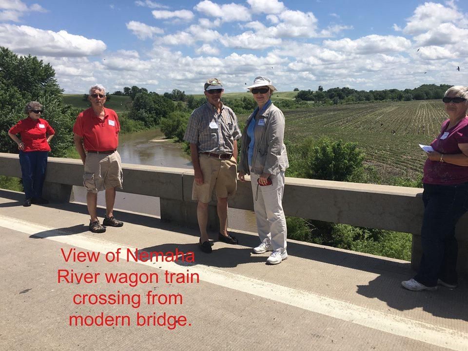 View of Nemaha River Wagon Train Crossing from a Modern Bridge.jpg