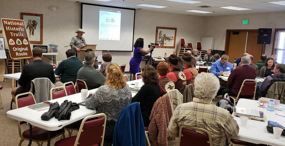 National Park Service Superintendent Aaron Mahr welcomes the Charrette group at the Pony Express Museum in St. Joseph, MO.