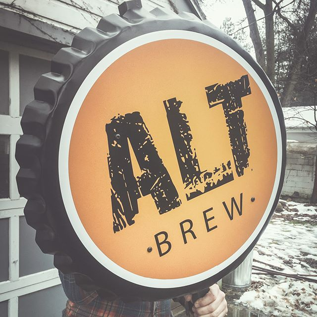 Oversized Beer Cap made with galvanized steel for exterior