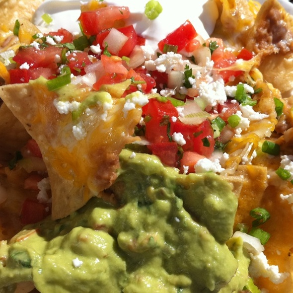 close up nachos