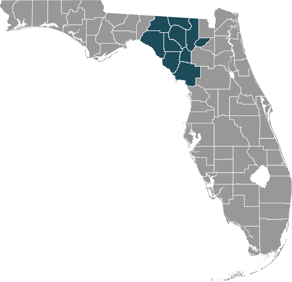 Map of SRLC Counties