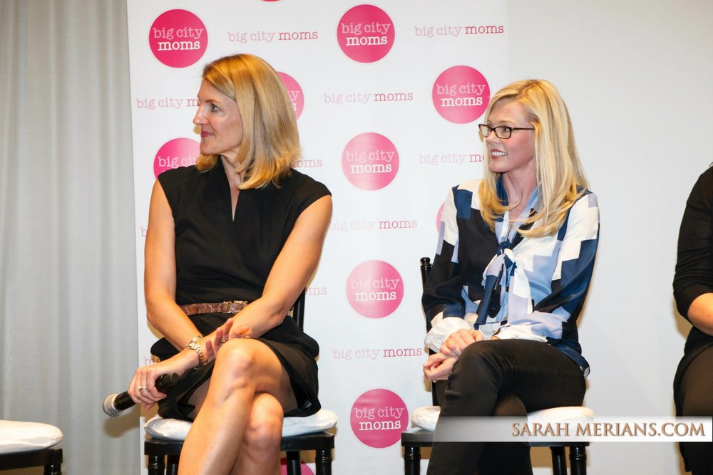 Kira Ryan (right) participates in a panel discussion at a Big City Moms event.