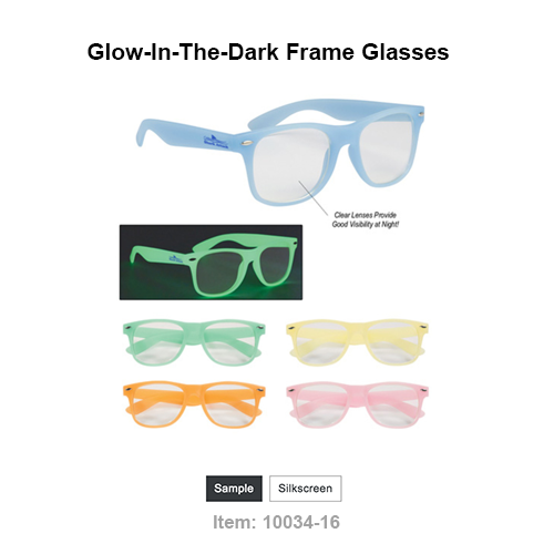 All Glass Frames Glow Green Clear Lenses For Visibility Anytime! Made Of Polycarbonate Material UV400 Lenses Provide 100% UVA And UVB Protection Great For Night Events And Parties! Expose To Normal Light For 30 Seconds To Charge Before Use