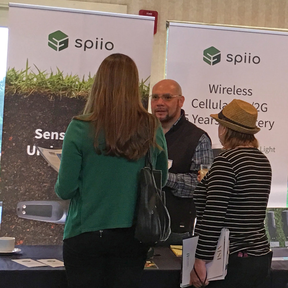 Ramon Rodriguez, explaining Spiio's Irrigation System with wireless moisture sensors