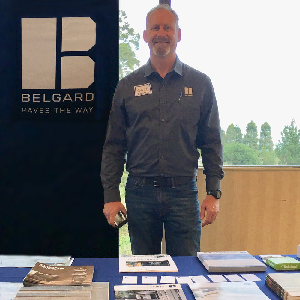 """Christopher Smuda """"paving the way,"""" Sales Representative from Belgard"""