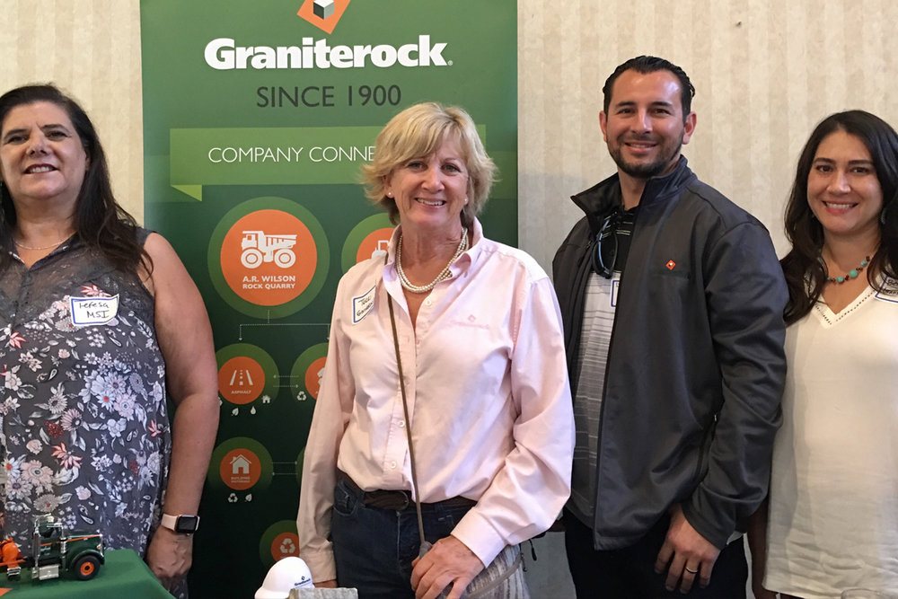 Teresa Martin from MSI (on left), with Terri Eitzen and the team from Graniterock