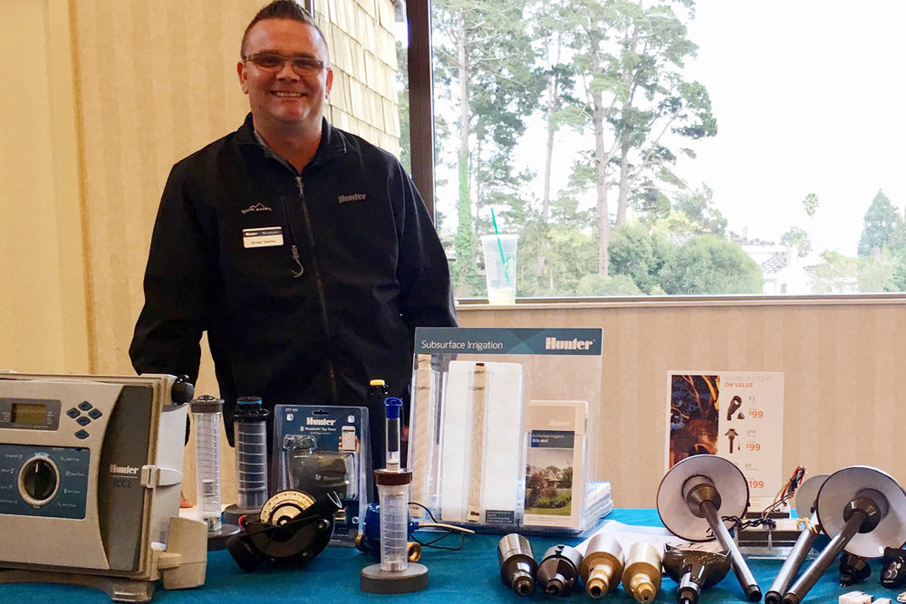 Hunter FXLuminaire's Jeremy Yearton with his fine products