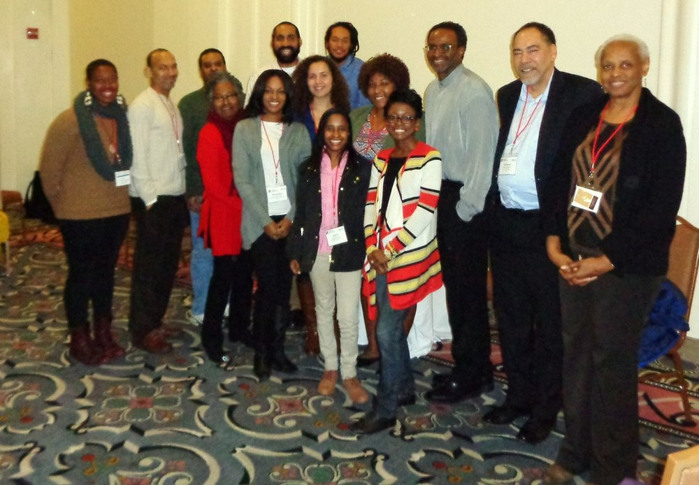 SBA Members at SHA 2016 in Washington, DC (from left) Row 1: Jarre Hamilton, Tiffany Momon Row 2: Cheryl LaRoche, Alexandra Jones, Tiffany Cain, Mia Carey, Kamau Sadiki, Michael Blakey, Teresa Singleton Row 3: Ayana Flewellen, Terry Weik, Lewis Jones, Bill White, Justin Dunnavant