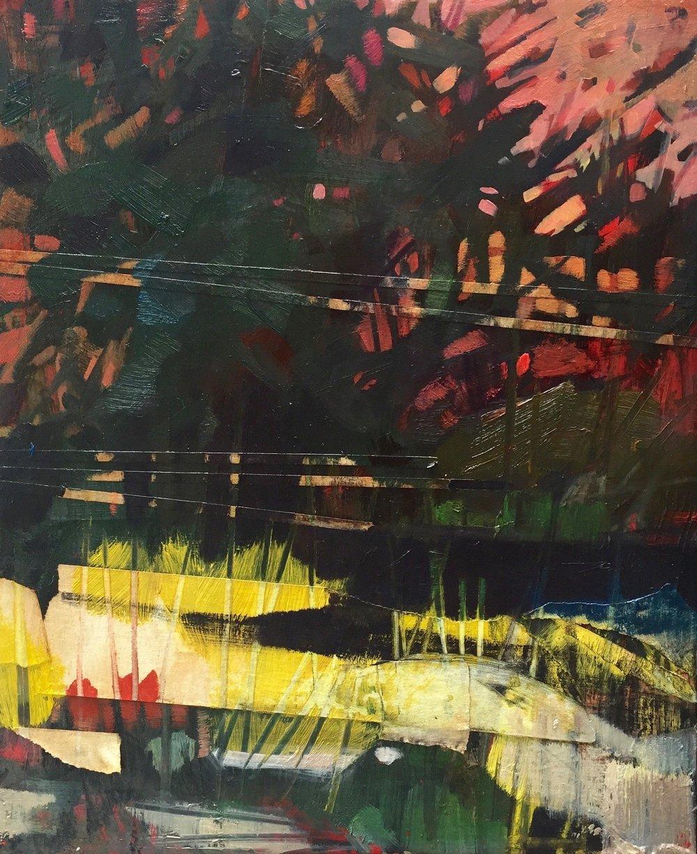 "Reconfigured: Three , oil on Panel, 8"" x 10"", 2017"