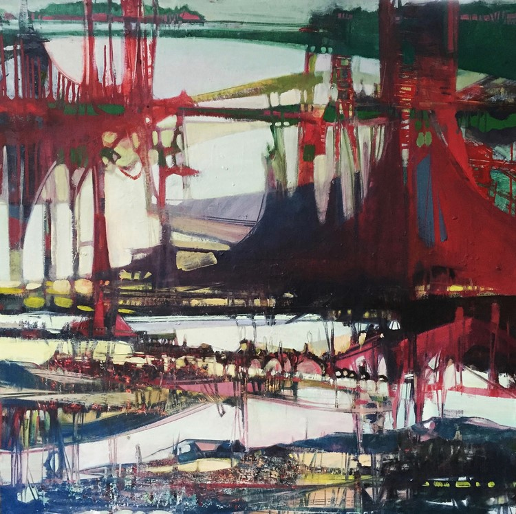 Thirtyseven: Twenty-three , oil on panel, 36 x 36 in.