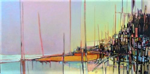 Coast , Oil on canvas, 10' x 5', 2008