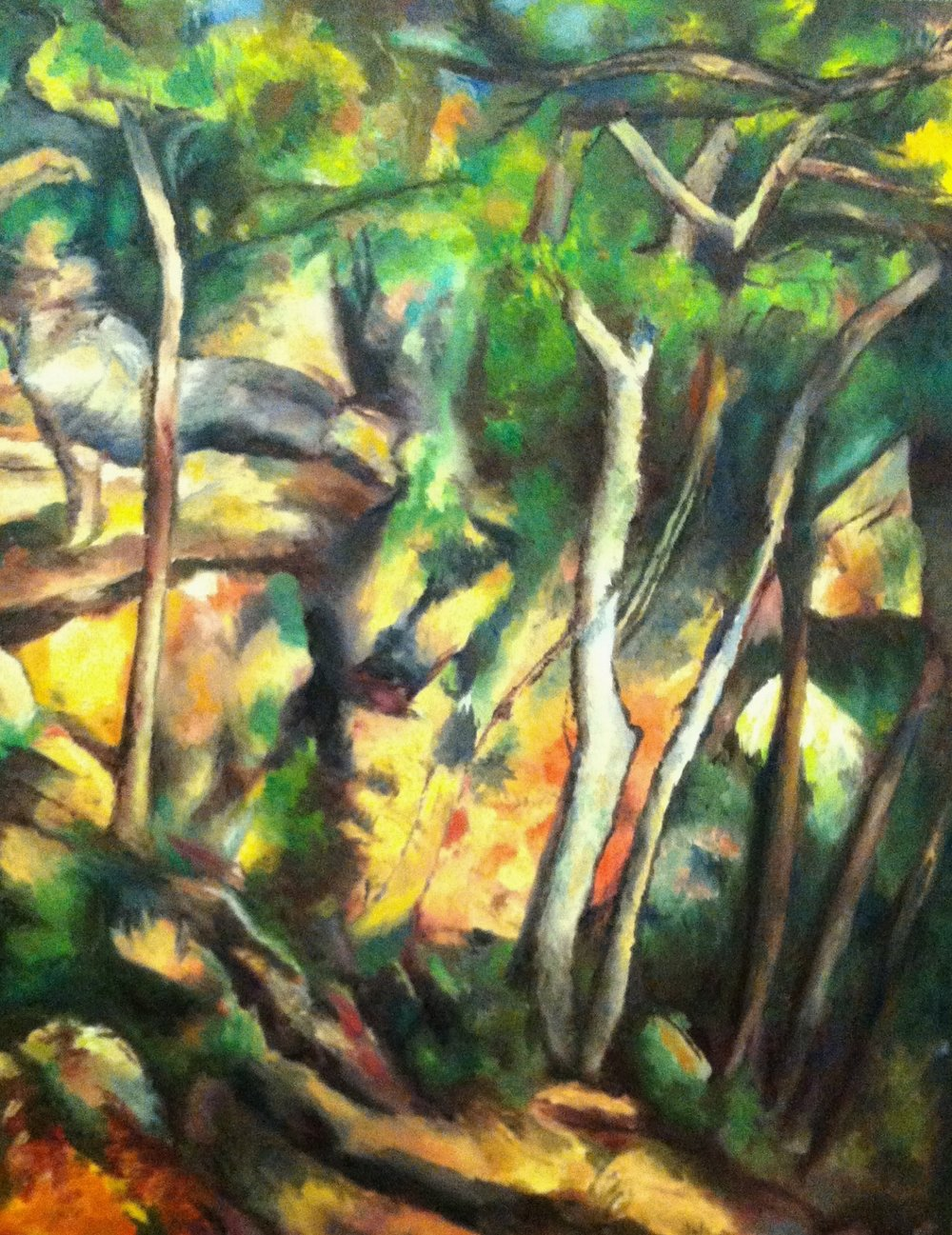 Re-creation, Paul Cezanne Forest