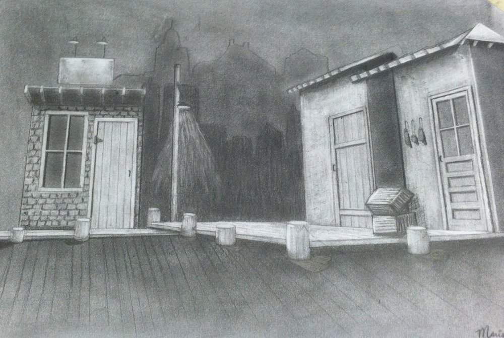 RED HERRING  Scenic Design by Greg Kaye  Graphite