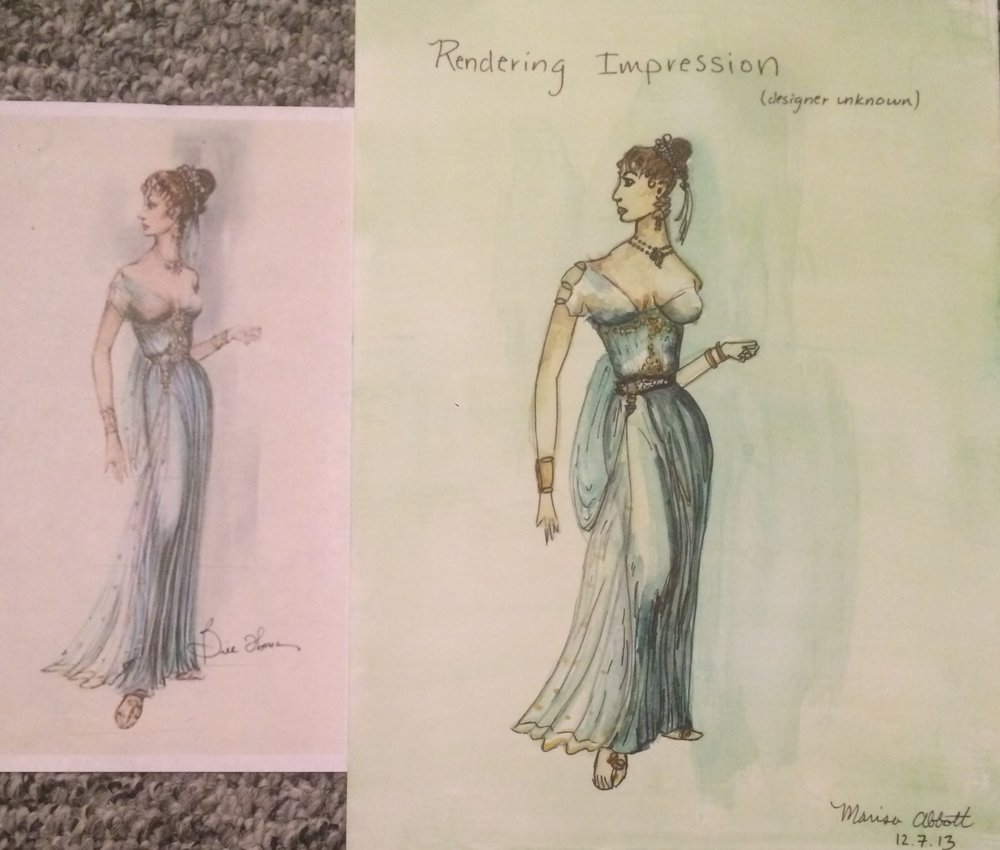 Re-creation of costume Rendering  Watercolor