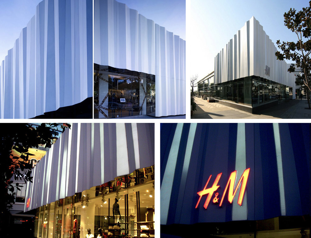H+M  FRP composite, stainless steel and integral lighting  West Hollywood, CA
