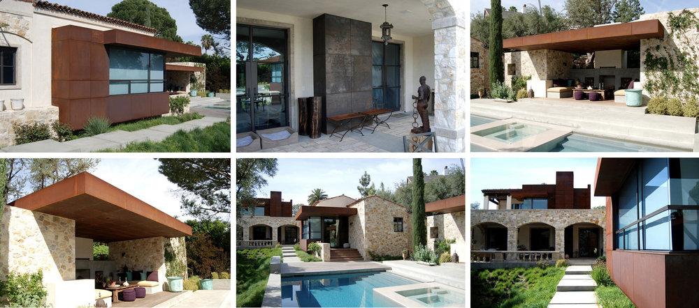 Alpine Residence  Luis Ortega Design Studio 2008 Cor-ten steel cladding and architectural amenities
