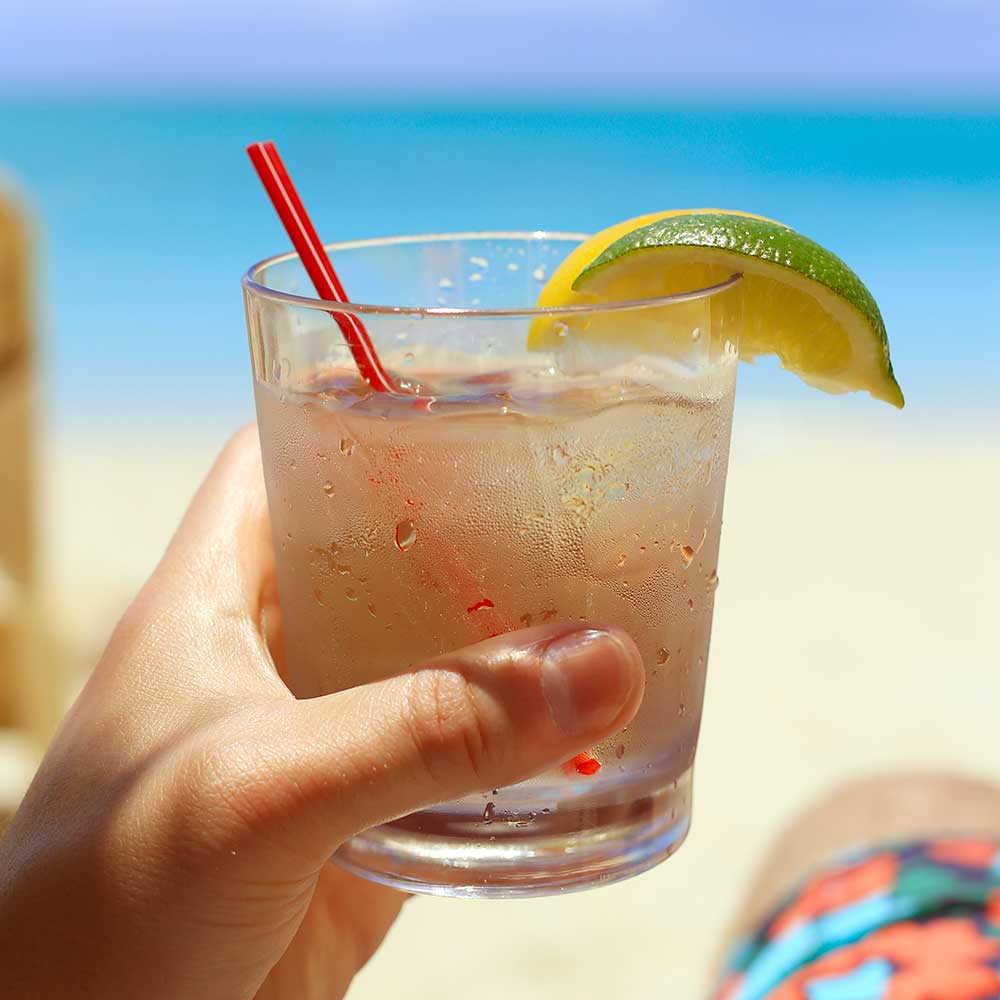 Don Julio on the rocks is always great, but it tastes even better when you're staring at Grace Bay.