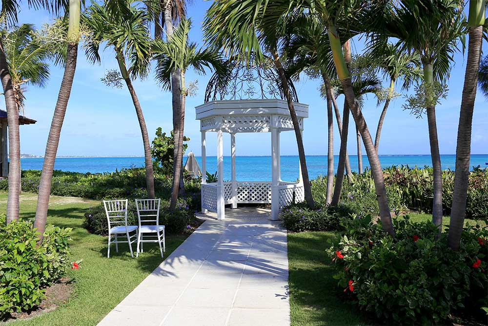 It's easy to see why Beaches hosts many destination weddings. The property is romantic and beautiful.