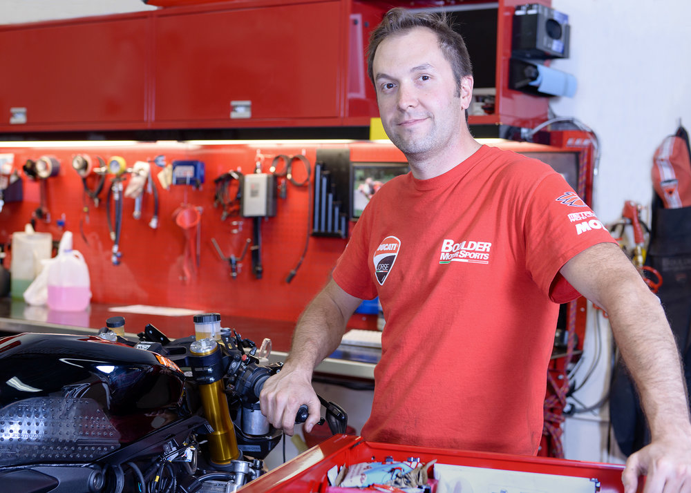 Joel Martens  Joel's a Master Ducati Mechanic at Boulder Motor Sports.