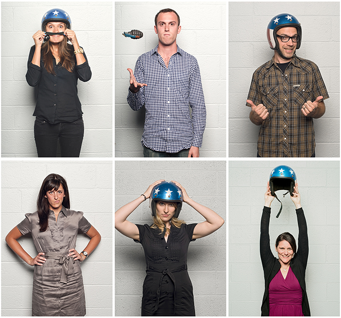 L to R - Aubrey, Avery, Dave, Emily, Kate & Teresa  Some of the creative department at advertising agency Victors & Spoils.