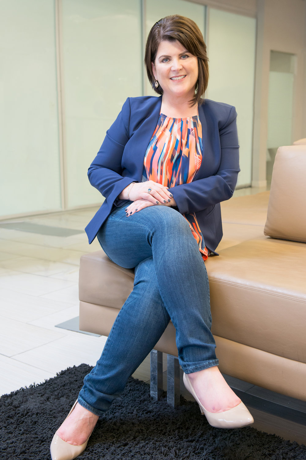 Ginny Hegarty  Location portrait for her consulting business.