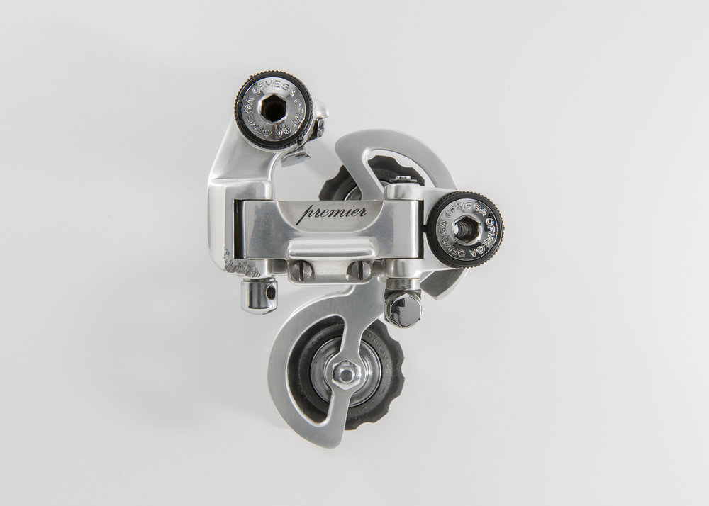 Ofmega Premier  It was first introduced in 1984 and was one of the classiest and most beautiful derailleurs of it's era.