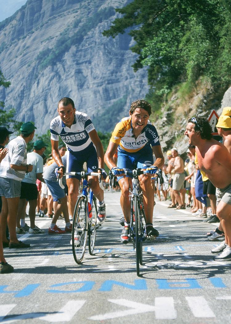 Ivan Basso & Francisco Mancebo . Alpe d'huez. Tour de France.