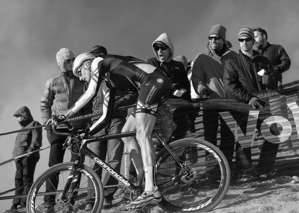 Ryan Trebon at the National Cyclocross Championships at Valmont Bike Park in Boulder, CO.