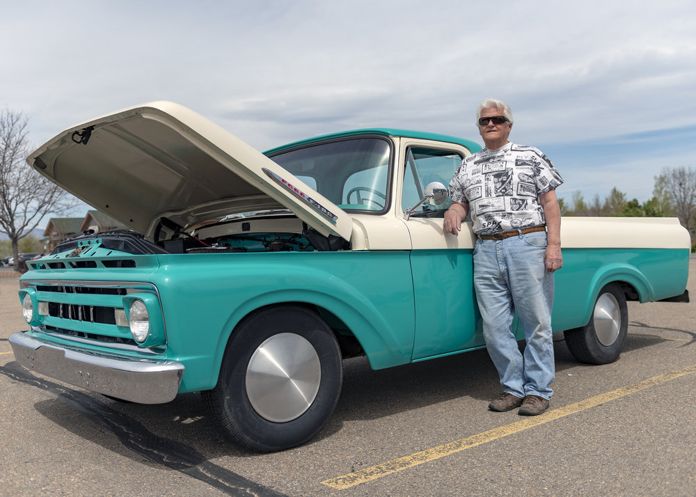 Bill and his exquisitely restored Ford F100.
