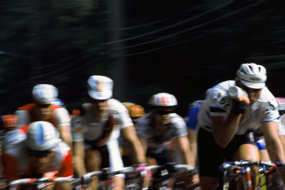 Erik Zabel and company. Zabel is third from the left. 1996 Men's Olympic Road Race. Atalnta, GA. 138.7 miles at an average speed of 28.14MPH! Shot on film.