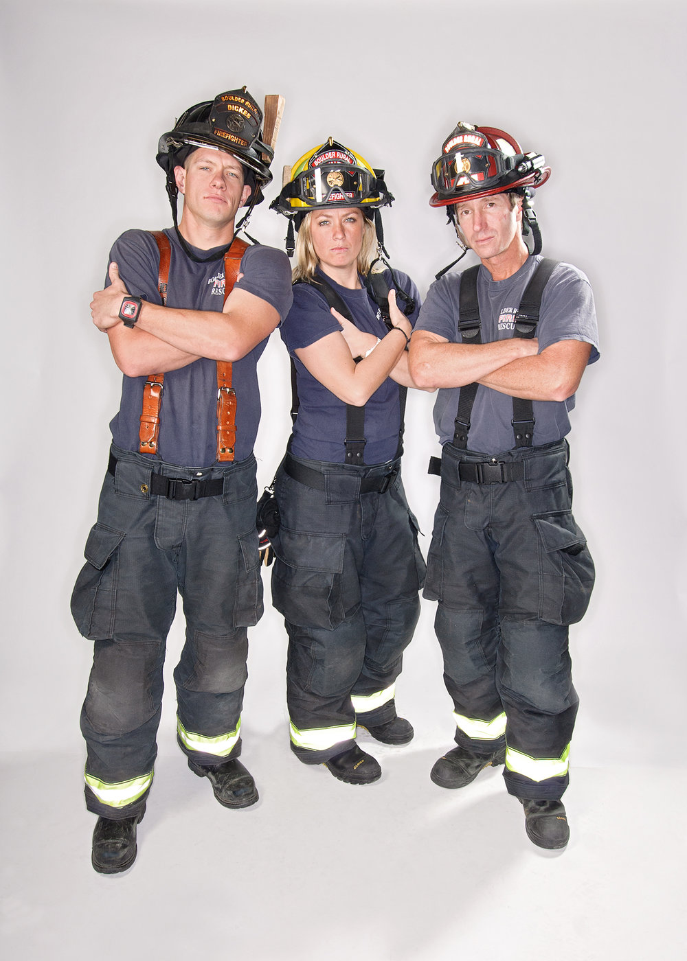 Jake, Stephanie & Rob  Firefighters at the Boulder Rural Fire Department.