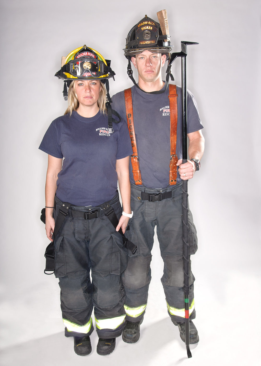 Stephanie and Jake  Engineer/Paramedic & Firefighter/EMT at the Boulder Rural Fire Department.