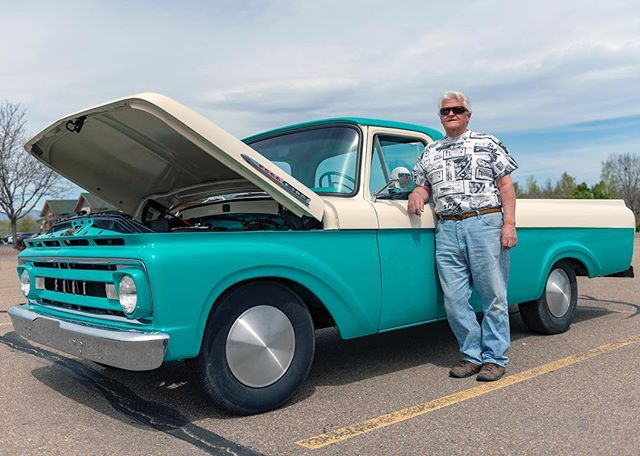 Bill and his super stylish Ford F100 complete with Moon Disks! . Location portrait taken at a local Cars & Coffee event near Boulder, CO. . © Robert D. Jones 2019 . . #ford #fordf100 #fordtrucks #moondisk #cars #carphotography #carphotographer #nikon #nikond800 #rdjonesphoto #advertisingphotography #advertisingphotographer #commercialphotographer #commercialphotography #editorial #editorialphotographer #entrepreneur #creative #creativity #hireme