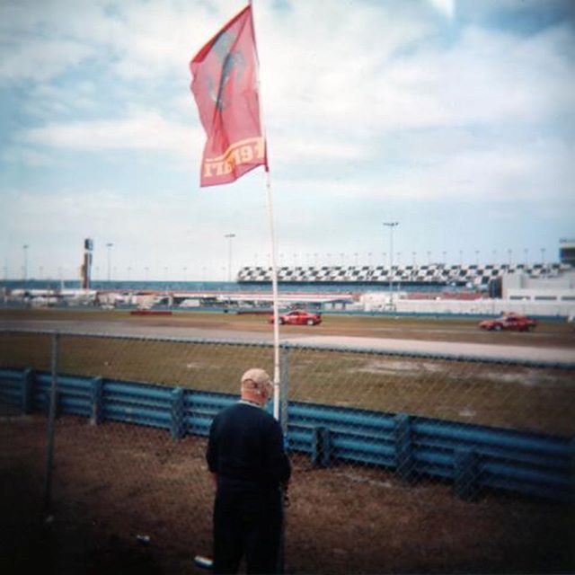 Dad, his Ferrari flag and 2 Ferraris! 24 Hours of Daytona.  My Dearest Dad,  I watched the 24 Hours of Daytona this weekend like I always do and couldn't stop thinking about you! I know you would have marveled at the stunning technology and sheer speed of the cars just like me. And the incredibly diverse driver line-up is as good as always.  Thanks so much for sharing your competitive spirit and your passion for racing and sports cars with me!  Love ya,  Robbie . . © Robert D. Jones 2019  #holga #film #120film #plasticcamera #daytona #daytona24 #ferrari #cars #carphotography #carphotographer #rdjonesphoto #advertisingphotography #advertisingphotographer #commercialphotographer #commercialphotography #editorial #editorialphotographer #entrepreneur #creative #creativity #hireme