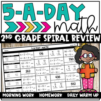 5-A-DAY MATH: SPIRAL REVIEW - Help students retain math skills with this popular spiral math review on just one sheet per week.