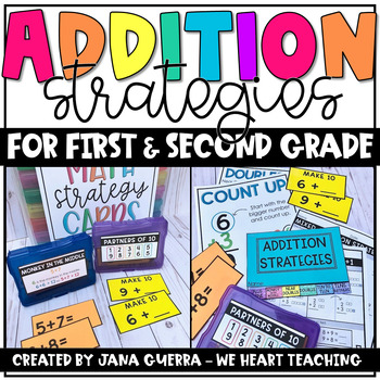 ADDITION STRATEGIES - This resource is jam-packed with everything you need to teach addition strategies to your 1st and 2nd graders.