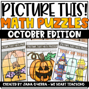 OCTOBER MATH PUZZLES - These editable math puzzles include 8 differentiation options from 1 digit to 3 digit addition and subtraction.