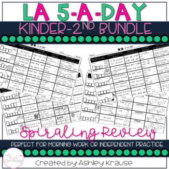 5-a-dAY LA: SPIRAL REVIEW BUNDLE - Help students retain essential LA skills with this popular spiral ELA review on just one sheet per week.