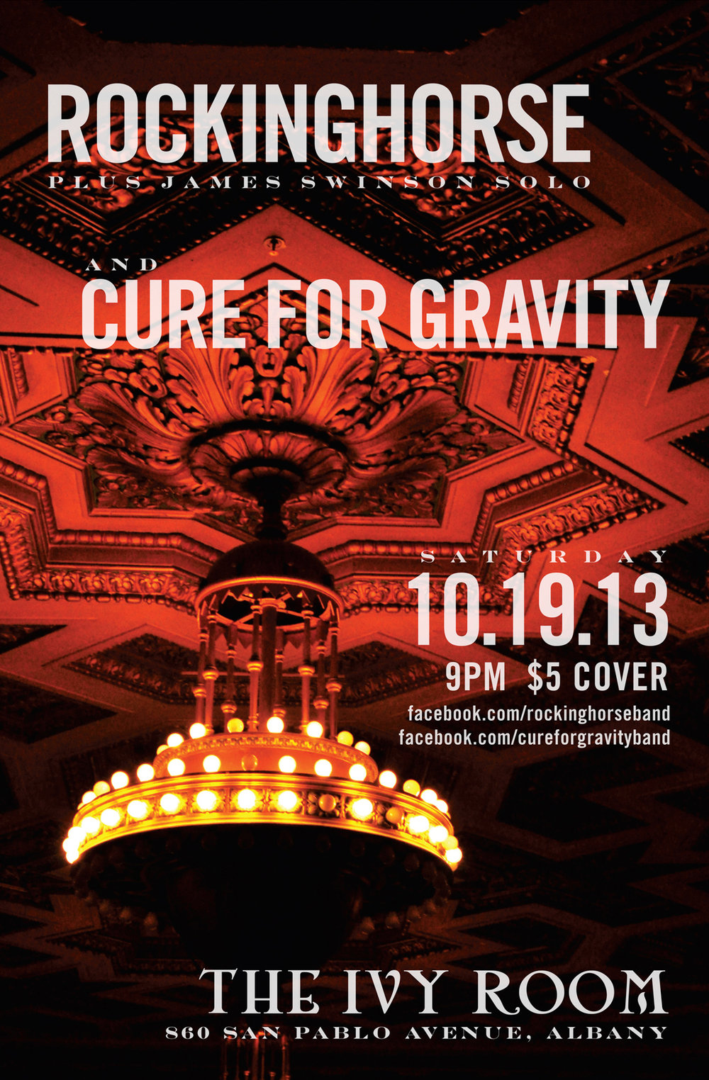 Rockinghorse / Cure for Gravity at Ivy Room Show Poster
