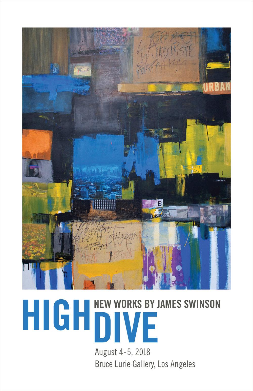 James Swinson, Highdive Art Show Postcard