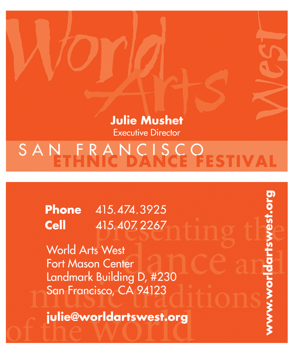 World Arts West Business Card
