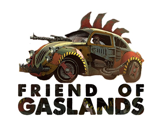 FRIEND OF GASLANDS - Dashlands is fully authorised to sell Gaslands related products. You can find us on the Friends of Gaslands list.