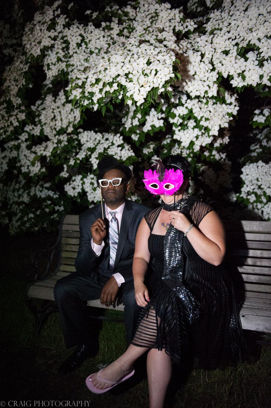Phipps Conseratory Weddings | Wedding Photo Booth Homemade Moss Frame-0012