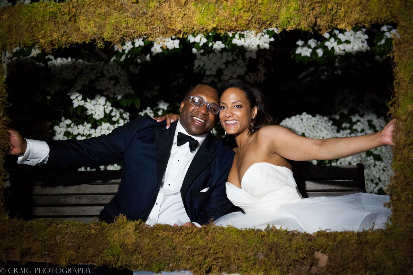 Phipps Conseratory Weddings | Wedding Photo Booth Homemade Moss Frame-0015